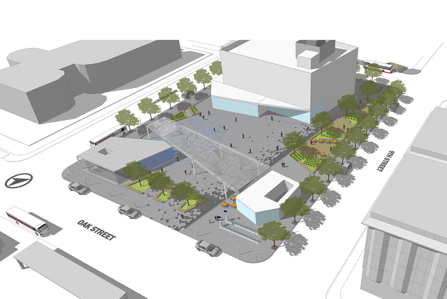 BART Lake Merritt Plaza Conceptualization